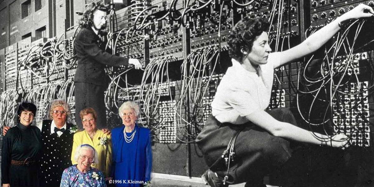 ENIAC kvinnliga programmerare världens första